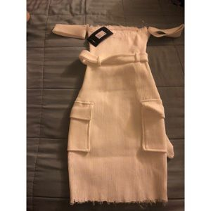 Come flirt with me ribbed mini dress